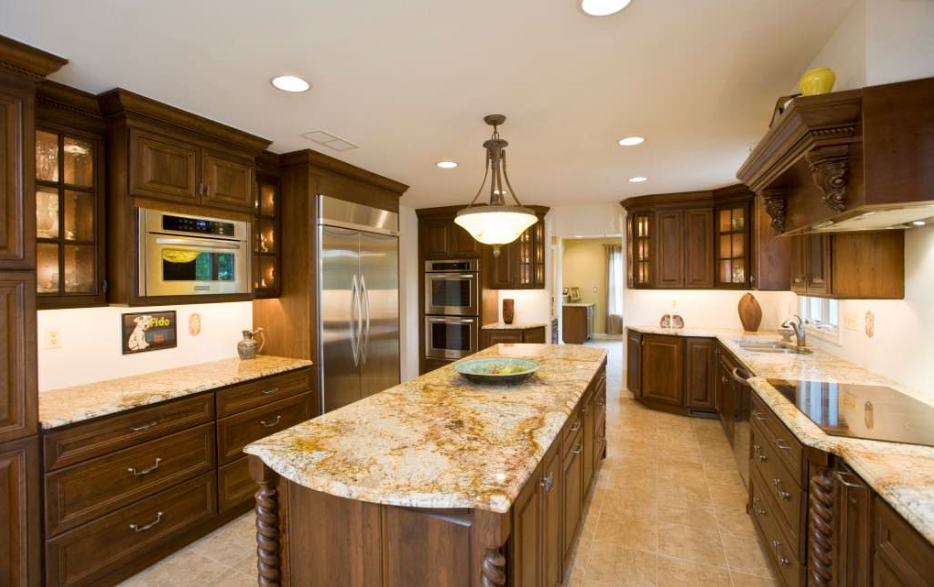 Lava countertop with neutral colors