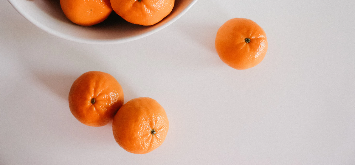 Solid surface countertop with oranges