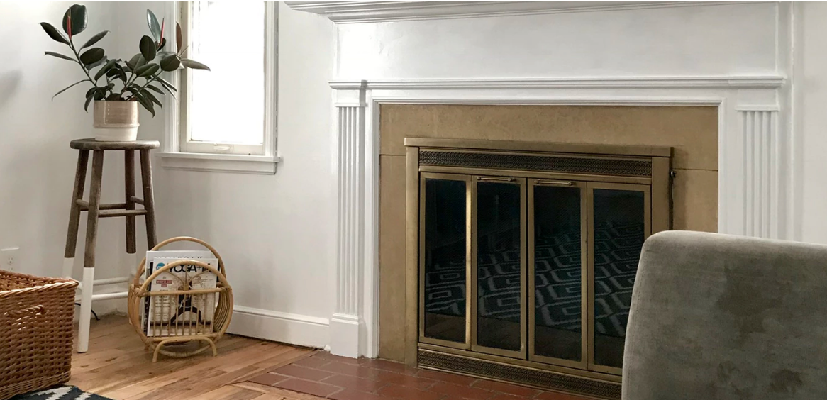 Fireplace in a home