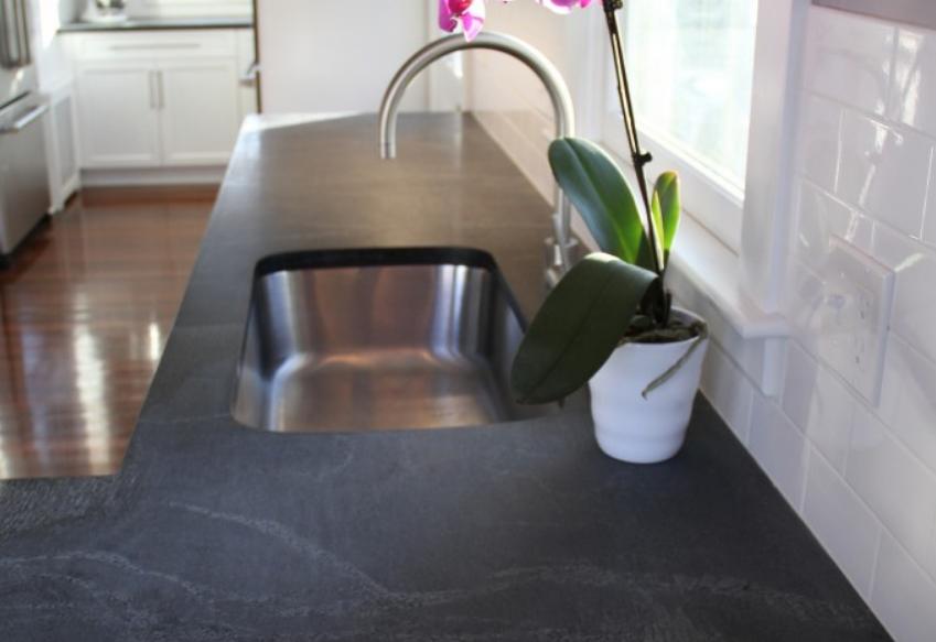 Schist kitchen countertop