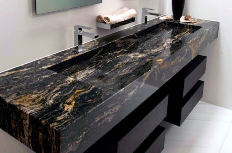 Granite vanity bathroom countertop