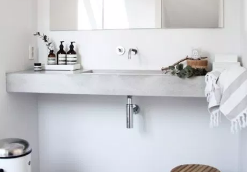 Modern Scandinavian inspired bathroom