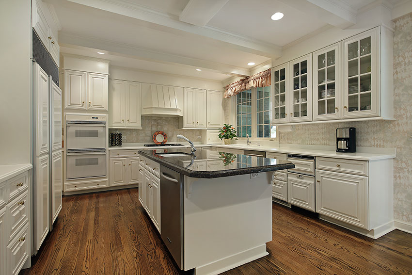All cream kitchen cabinetry