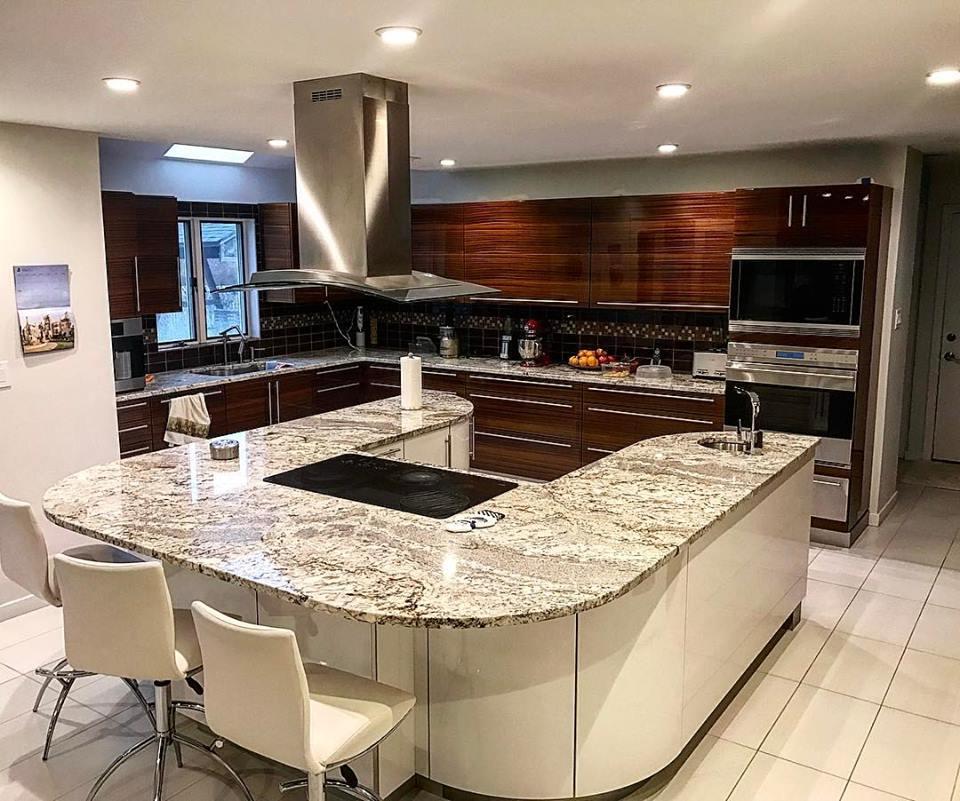 Modern kitchen counter top