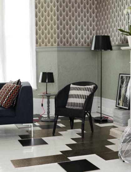 Abstract floor design