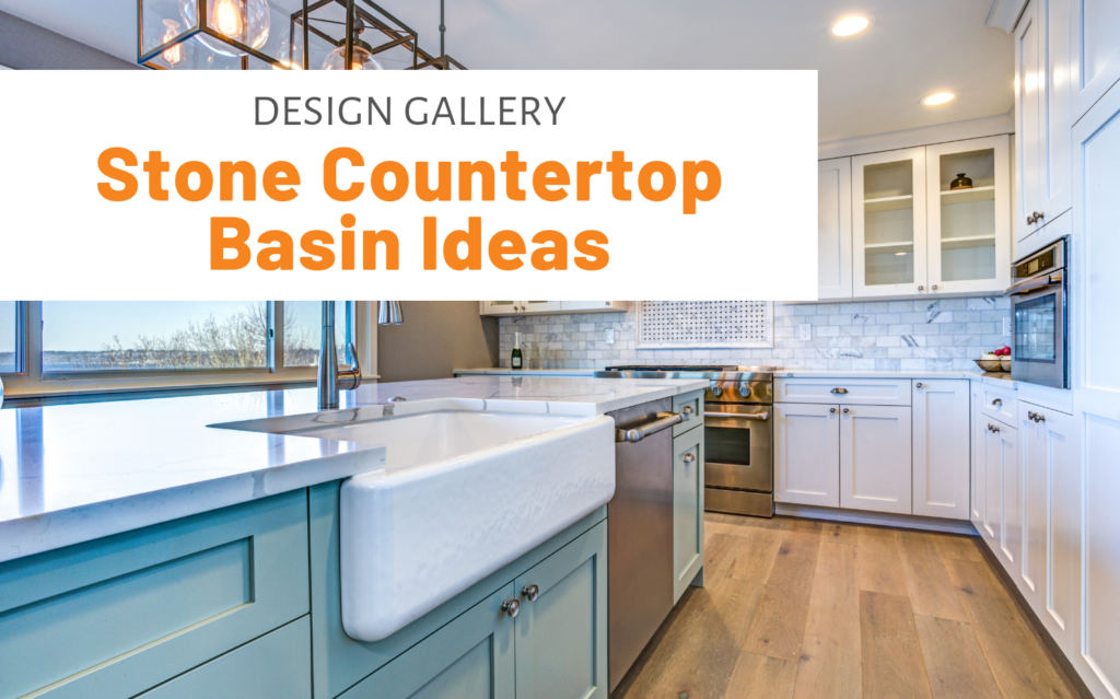 """Featured image for """"Design Gallery: Stone Countertop Basin Ideas"""" blog post"""