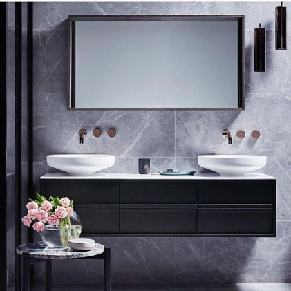 Stunning Black Marble Bathroom