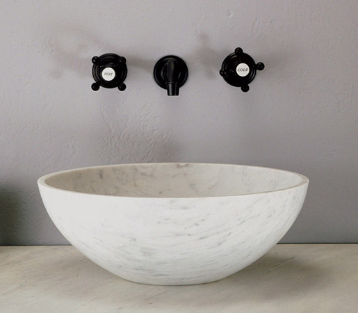 Carrara marble sink