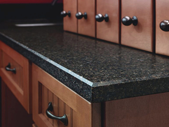 Beveled edge counter