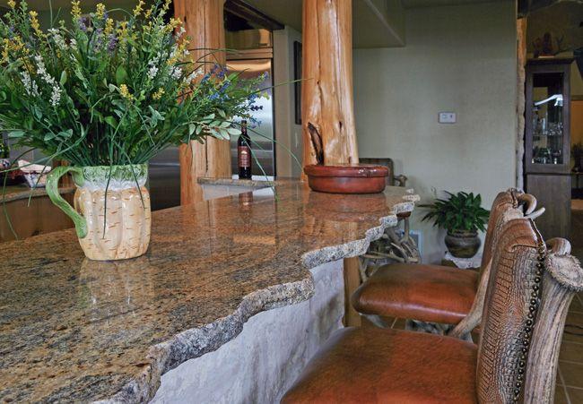 Granite countertop edge
