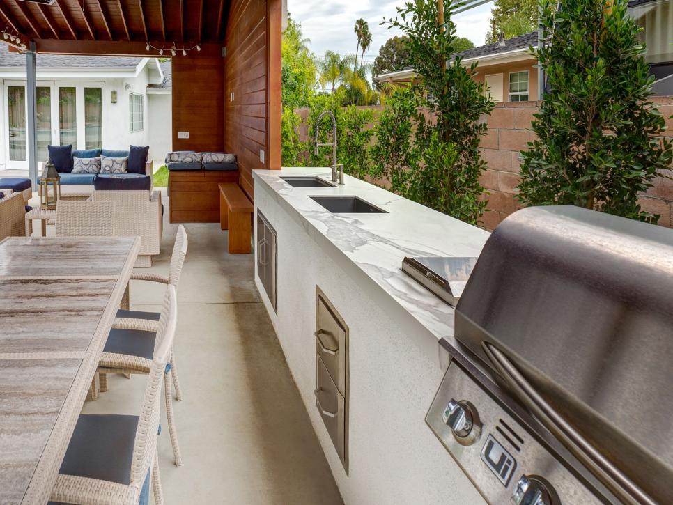 Outdoor kitchen BBQ area