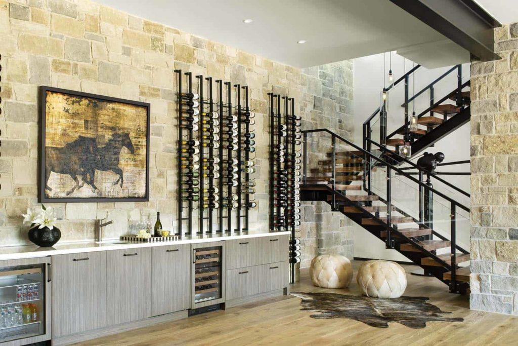 Mountain modern home staircase