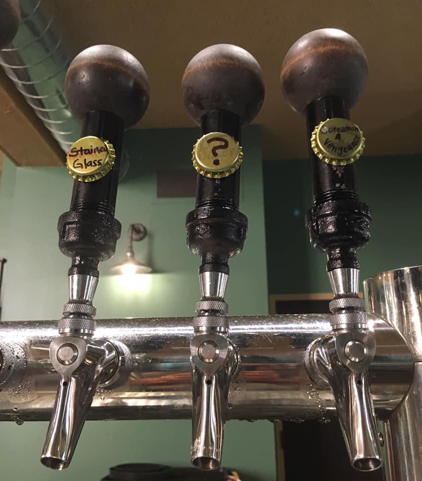 Home brewed beer on tap