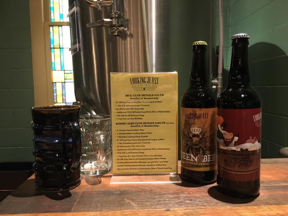 Looking Glass Brewing Co. bottled beer